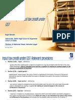 6.Case Study on Input Tax Credit Under GST