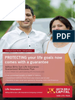 ABSLI Guaranteed Milestone Plan Brochure