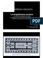 Arte Periodo Arcaico. Arquitectura (2014)