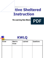 Effective Sheltered Instruction