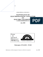 Maintenance of Electromagnetic Contactor on Electric Locomotive(1)