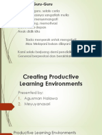 .Creating Productive Learning Environments 1.pptx
