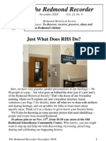 RHS Newsletter Nov2010