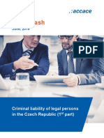 Criminal liability of legal persons in the Czech Republic
