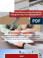 How Can Effective Invoice Processing Change the Way Your Business Runs?