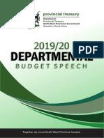 Provincial Treasury Budget Speech 2019 (1)
