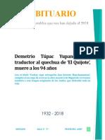 obituario Perú