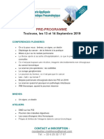 Programme Club Thorax 2019