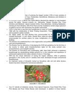 Major Achievementsof Floriculture