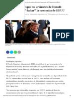 El FMI Advierte Que Los Aranceles de Donald Trump Pueden _dañar_ La Economía de EEUU