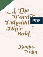 All the Words I Should Have Sai - Rania Naim.epub