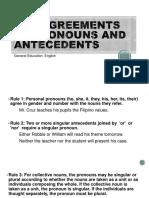 Pronoun Antecedent
