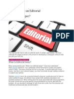 How to Write an Editorial for a Newspaper