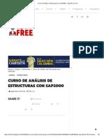 Curso de Análisis de Estructuras Con SAP2000 - IngCivilFree.com