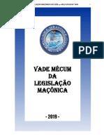 VADE MECUM DA LEGISLAÇÃO MAÇÕNICA -VERSÃO 2019