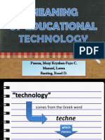 Meaning of Educational Technology