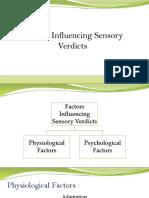 Factors Influencing Sensory Verdicts