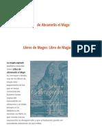 Libros de Magos_ Libro de Magia Sagrada de Abramelín El Mago - Las Cosas Que Nunca Existieron - Mitos y Leyendas Del Mundo
