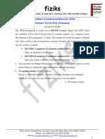 6.TIFR Ph.D Syllabus
