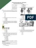 Exámen de Matemáticas 7 - Operaciones Con Racionales