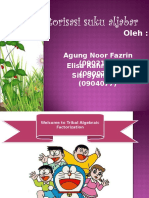 Faktorisasi Suku Aljabar.pps