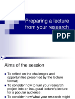 Preparing a lecture from your research.ppt