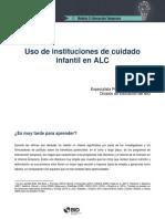 Uso de Instituciones de Cuidado Infantil en ALC