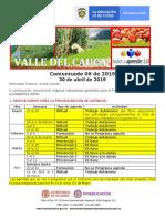 Comunicado Valle Del Cauca 06 Del 30 Abril de 2019