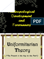 Anthropological Development and Forerunners