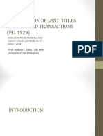 Registration of Land Titles1