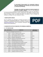 Resultado - Avaliacao Psicologica - CFO PMMG 2018