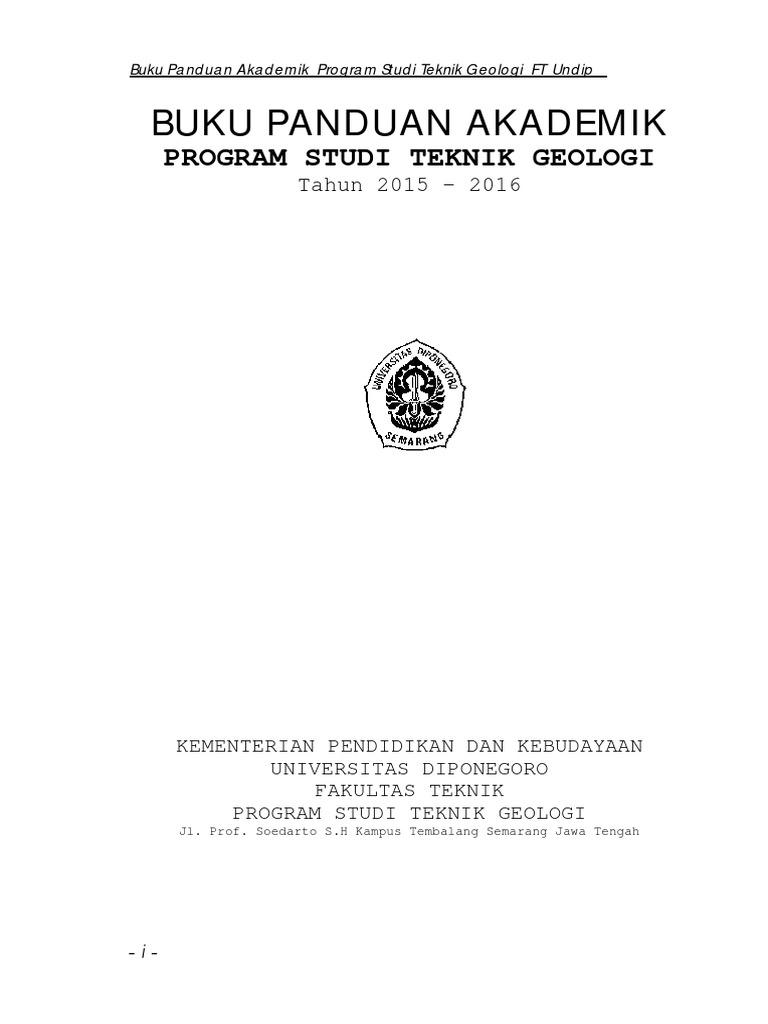 Buku Panduan Akademik Program Studi Teknik Geologi   PDF