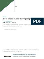 Steve Cook's Muscle Building Program