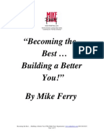 Becoming the Best ... Building a Better You!