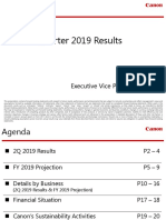 Canon Second Quarter 2019 Results