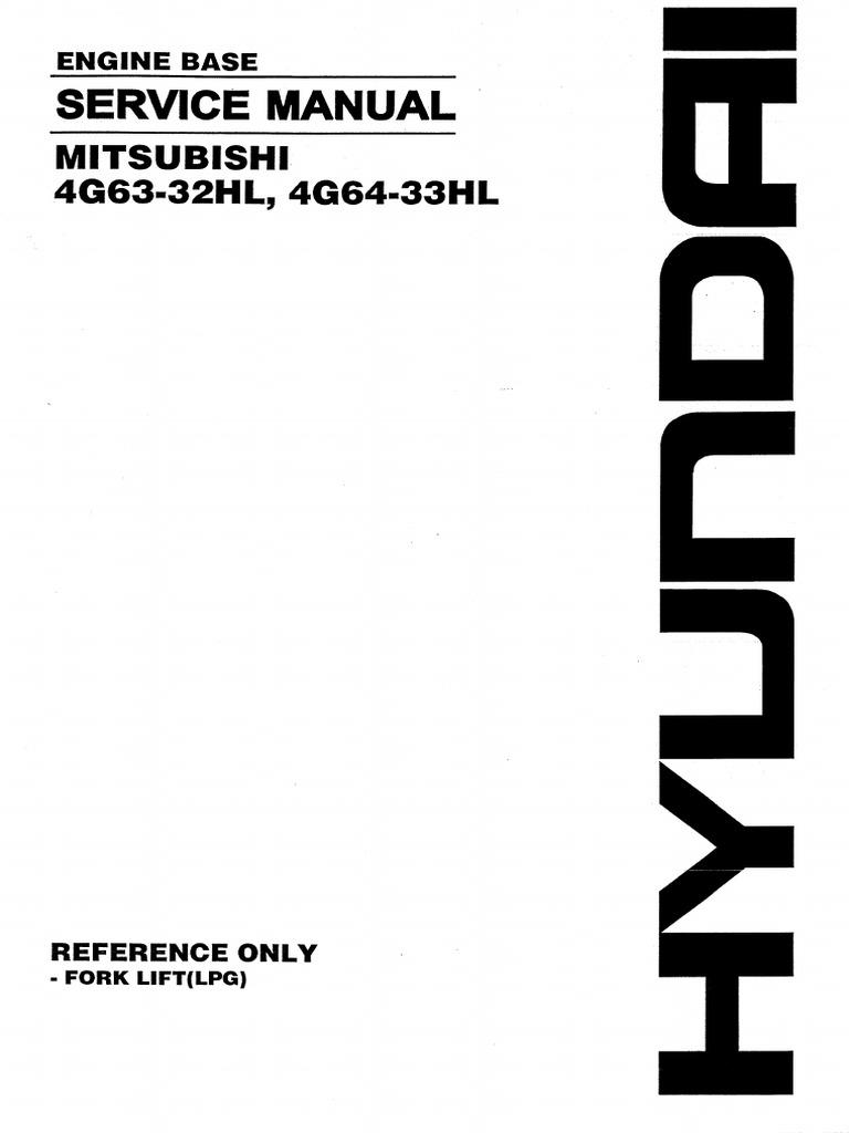 Service Manual Mitsubishi 4G63-32HL, 4G64-33HL.pdf