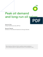 Bp Peak Oil Demand and Long Run Oil Prices