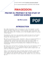 Armageddon Message for Christian Scientists, 2009