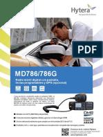 MD786/786G Radio móvil digital con pantalla, teclas programables y GPS (opcional)