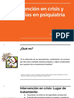 Intervención en Crisis y Urgencias en Psiquiatría