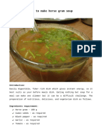 How to make horsegram soup