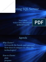 Implementing Clustering Using SQL Server - Tom Pullen