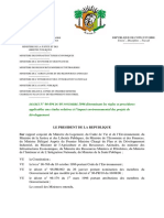 Décret n° 96-894 du 8 novembre 1996 déterminant les règles et procédures applicables aux études relatives à l'impact environnemental des projets