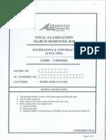 Cive 4703 Estimating & Contract 201803