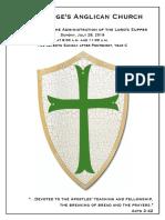 7 Pentecost Year C   28 July @ 9 & 11