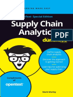 Supply Chain Analytics for Dummies