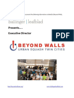 Executive Director Profile - Beyond Walls