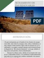 Aprovechamiento de Energías Renovables 1