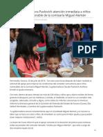 25-07-2019 Brinda Gobernadora Pavlovich atención inmediata a niños en condición vulnerable de la comisaría Miguel Alemán-Termometroenlinea