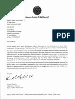 Nipmuc Nation Tribal Council Letter to Killingly Public Schools Superintendent Steven Rioux (7/12/19)